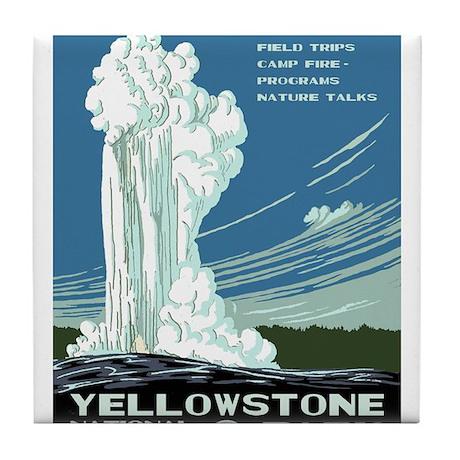 Yellowstone National Park WPA Tile Coaster