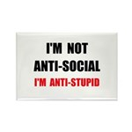 Anti Stupid Rectangle Magnet (10 pack)