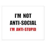 Anti Stupid Small Poster