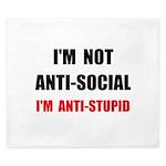 Anti Stupid King Duvet