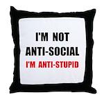 Anti Stupid Throw Pillow