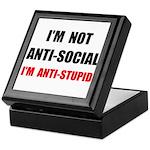 Anti Stupid Keepsake Box