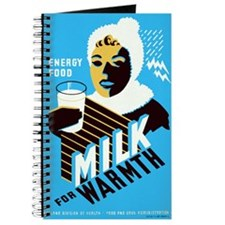 Vintage Milk for Warmth Journal