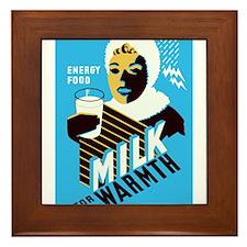 Vintage Milk for Warmth Framed Tile