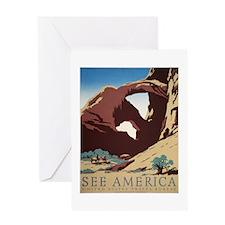 See America Desert Greeting Card