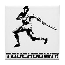Baseball Touchdown Tile Coaster
