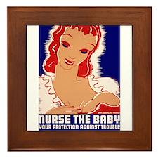 Nurse the Baby Framed Tile