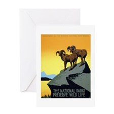 National Parks: Preserve Wild Life Greeting Card
