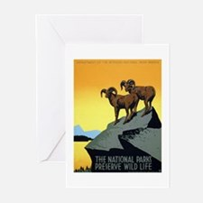 National Parks: Preserve Wild Life Greeting Cards