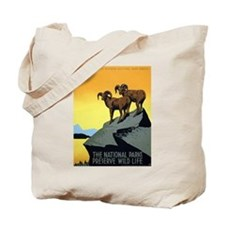 National Parks: Preserve Wild Life Tote Bag