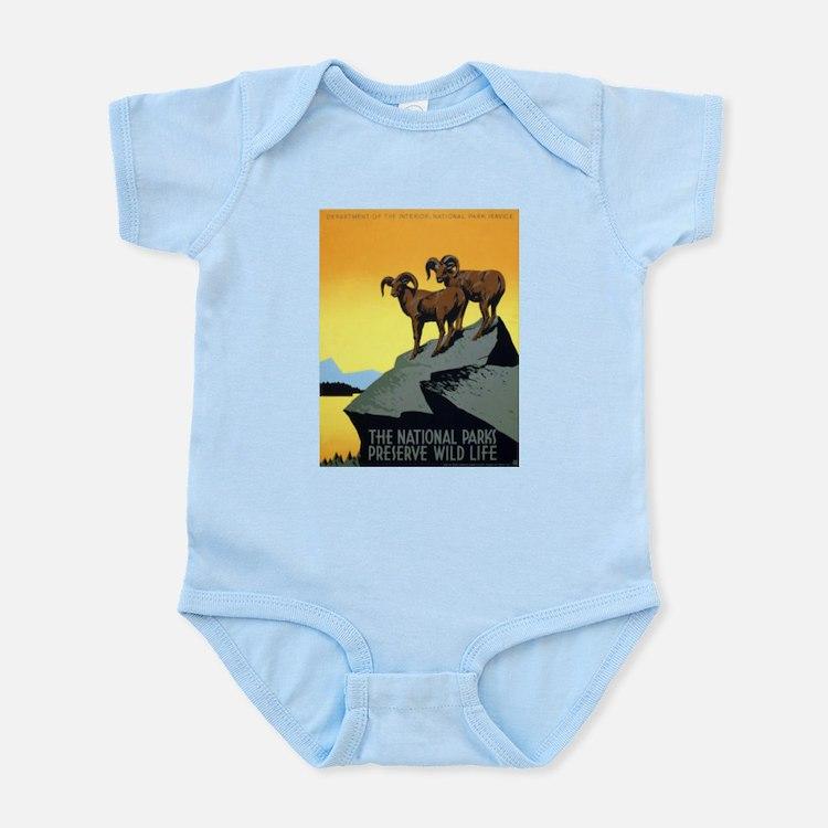 National Parks: Preserve Wild Life Infant Bodysuit