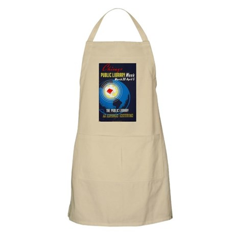 Public Library: An American Institution Apron