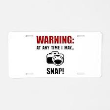 Camera Snap Aluminum License Plate