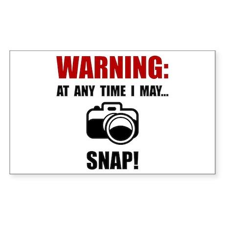 Camera Snap Sticker (Rectangle 10 pk)