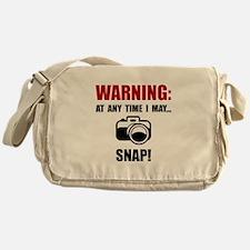 Camera Snap Messenger Bag