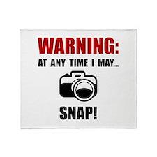 Camera Snap Throw Blanket