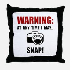 Camera Snap Throw Pillow