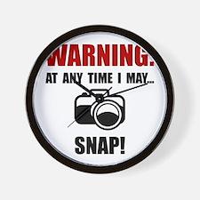 Camera Snap Wall Clock