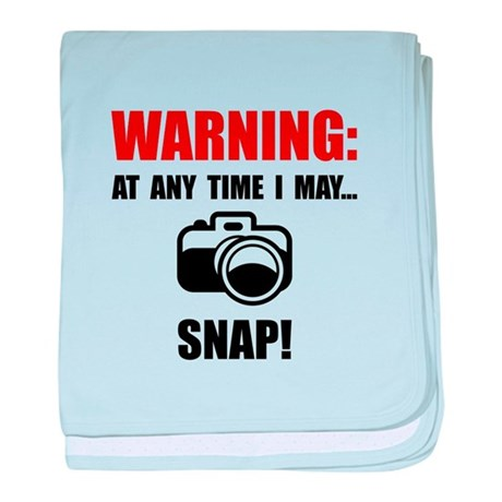 Camera Snap baby blanket