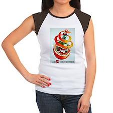 Vintage French Soda Women's Cap Sleeve T-Shirt
