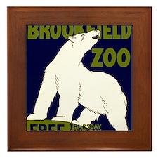 Vintage Visit the Zoo Framed Tile