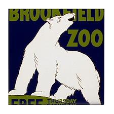 Vintage Visit the Zoo Tile Coaster