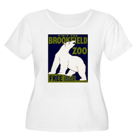 Vintage Visit the Zoo Women's Plus Size Scoop Neck