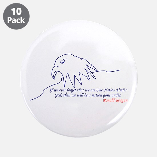 "Eagle 3.5"" Button (10 pack)"