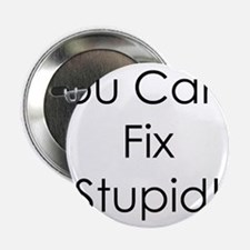 "You Can't Fix Stupid 2.25"" Button"