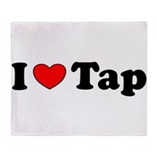 I Heart Tap Throw Blanket