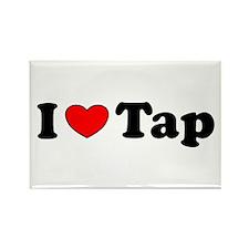 I Heart Tap Rectangle Magnet