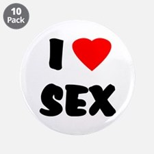 "I Love Sex 3.5"" Button (10 pack)"