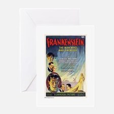 Vintage Frankenstein Horror Movie Greeting Card