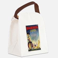Vintage Frankenstein Horror Movie Canvas Lunch Bag