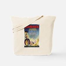 Vintage Frankenstein Horror Movie Tote Bag