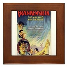 Vintage Frankenstein Horror Movie Framed Tile