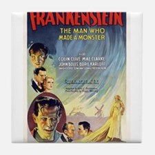 Vintage Frankenstein Horror Movie Tile Coaster