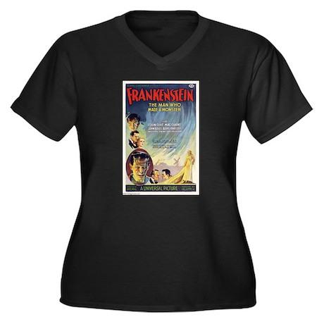 Vintage Frankenstein Horror Movie Women's Plus Siz