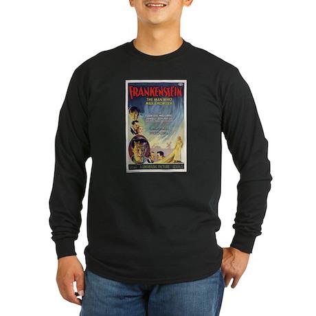 Vintage Frankenstein Horror Movie Long Sleeve Dark