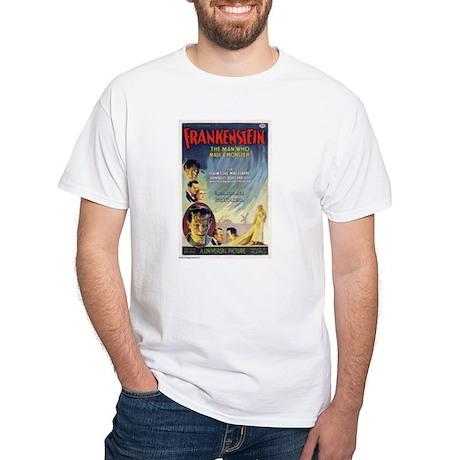 Vintage Frankenstein Horror Movie White T-Shirt