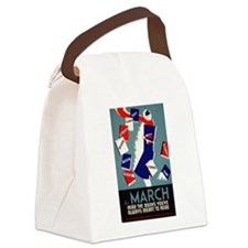 Vintage March is for Reading Canvas Lunch Bag