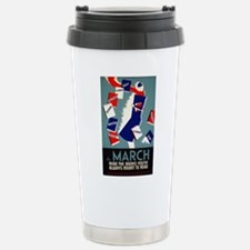 Vintage March is for Reading Travel Mug