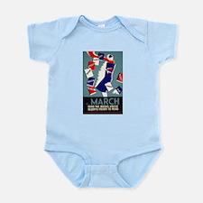 Vintage March is for Reading Infant Bodysuit
