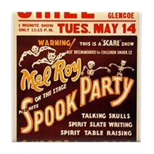 Vintage Halloween Party Tile Coaster