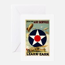 WWII Join the Air Service/Air Force Greeting Card