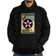 WWII Join the Air Service/Air Force Hoodie