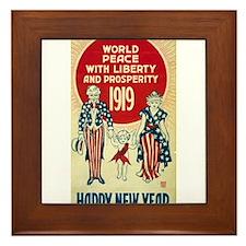 Vintage Happy New Year Framed Tile