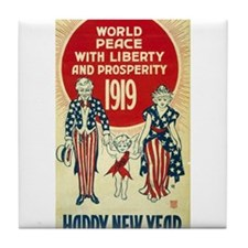Vintage Happy New Year Tile Coaster