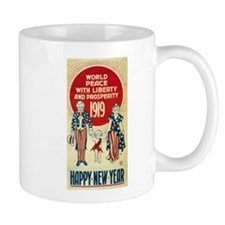 Vintage Happy New Year Mug