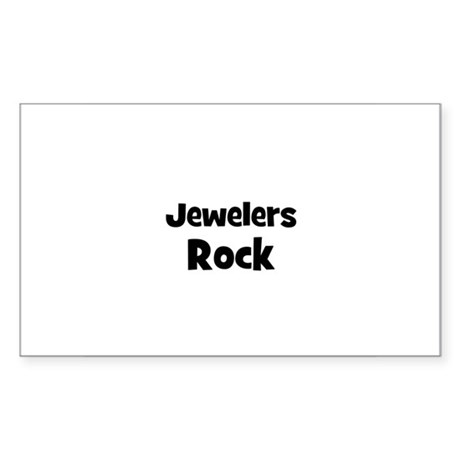 JEWELERS Rock Rectangle Sticker